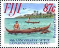 [The 50th Anniversary of the Resettlement of Banabans, inhabitans of Ocean Island, in Fiji, type YM]