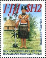 [The 50th Anniversary of the Resettlement of Banabans, inhabitans of Ocean Island, in Fiji, type YN]