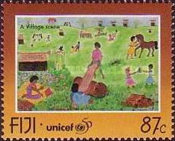 [The 50th Anniversary of UNICEF - Children's Paintings, type ZK]
