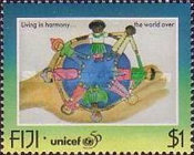 [The 50th Anniversary of UNICEF - Children's Paintings, type ZL]