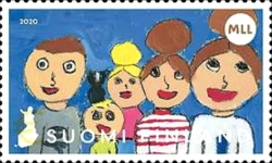 [Children's Drawings - The 100th Anniversary of the Mannerheim League for Child Welfare, type CMV]