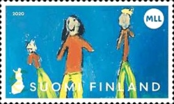 [Children's Drawings - The 100th Anniversary of the Mannerheim League for Child Welfare, type CMW]