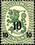 [Standing lion Stamps of 1917 Surcharged, Typ U]