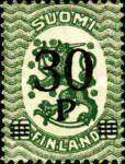 [Standing lion Stamps of 1917 & 1919 Surcharged, Typ V]