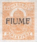 """[Hungary Newspaper Stamp of 1913 Overprinted """"FIUME"""", type A1]"""