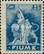 """[New Daily Stamps - Inscription """"FIUME"""", type AA]"""