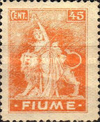 """[New Daily Stamps - Inscription """"FIUME"""", type AA2]"""