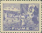 """[New Daily Stamps - Inscription """"FIUME"""", type AB]"""