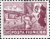 """[New Daily Stamps - Inscription """"FIUME"""", type AB2]"""