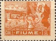 """[New Daily Stamps - Inscription """"FIUME"""", type AB3]"""