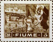 """[New Daily Stamps - Inscription """"FIUME"""", type AB6]"""