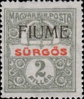 """[Hungary Express Stamp of 1916 Overprinted """"FIUME"""", type B]"""