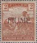 [Overprinted Postage Stamps from Hungary, type C]