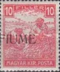 [Overprinted Postage Stamps from Hungary, type C4]