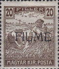 [Overprinted Postage Stamps from Hungary, type C6]