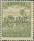 [Overprinted Postage Stamps from Hungary, type C9]