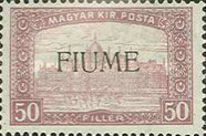 [Overprinted Postage Stamps from Hungary, type M]