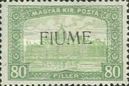 [Overprinted Postage Stamps from Hungary, type M2]