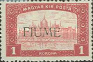 [Overprinted Postage Stamps from Hungary, type M3]