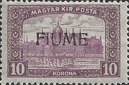[Overprinted Postage Stamps from Hungary, type M7]