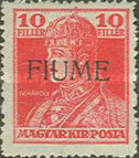 [Overprinted King Karl & Queen Zita Stamps from Hungary, type P]