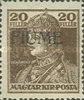 [Overprinted King Karl & Queen Zita Stamps from Hungary, type Q]
