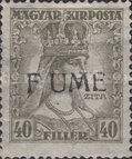 [Overprinted King Karl & Queen Zita Stamps from Hungary, type R]