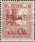 [Overprinted Postage Stamps from Hungary, type U]