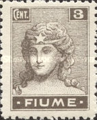 """[New Daily Stamps - Inscription """"FIUME"""", type Y1]"""