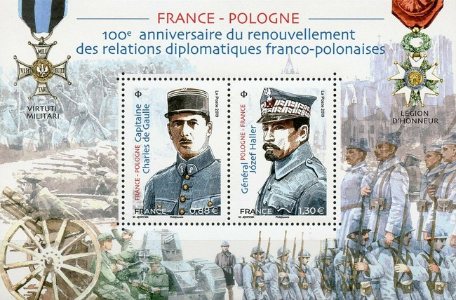 [The 100th Anniversary of Diplomatic Relations with Poland - Joint Issue with Poland, type ]