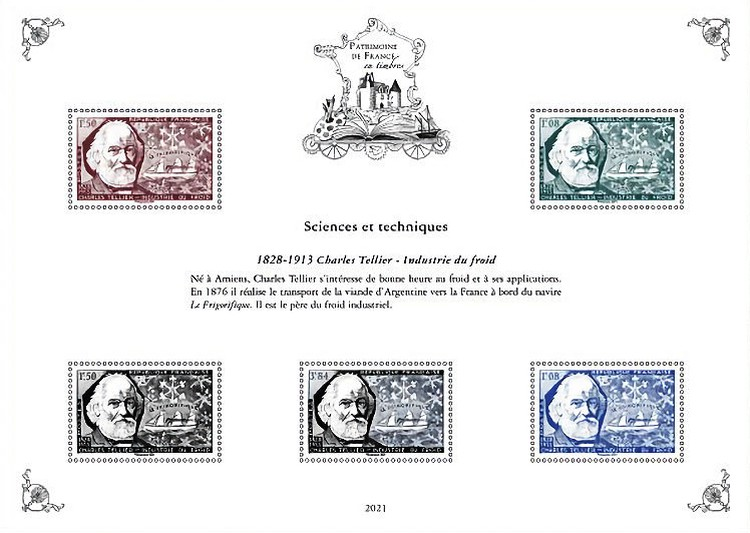 [Philatelic Treasures - Sciences & Techniques - Charles Tellier, 1828-1913 - Refrigeration Industry, type ]