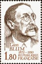 [The 110th Anniversary of the Birth of Leon Blum, type BPZ]