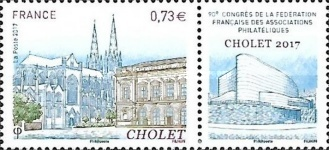 [The 90th Congress of the French Federation of Philatelic Associations, Cholet, type IEX]