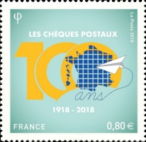 [The 100th Anniversary of Postal Checks, type IVT]