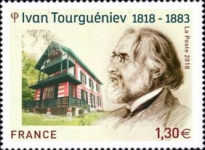 [The 200th Anniversary of the Birth of Ivan Sergueïevitch Tourgueniev, 1818-1883, type IWI]