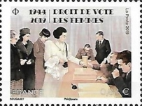 [The 75th Anniversary of Women's Suffrage, type IZM]