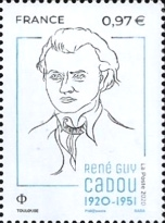 [The 100th Anniversary of the Birth of René Guy Cadou, 1920–1951, type JGQ]
