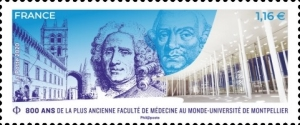 [The 800th Anniversary of the Faculty of Medicine at the University of Montpellier, type JJX]