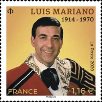 [The 50th Anniversary of the Death of Luis Mariano, 1914-1970, type JKF]