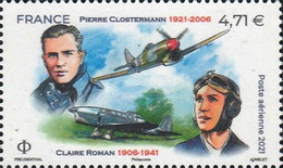 [The 100th Anniversary of the Birth of Pierre Clostermann, 1921-2006 : The 80th Anniversary of the Death of Claire Roman, 1906-1941, type JQG]
