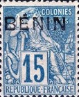 """[French Colonies Postage Stamps Handstamped """"BENIN"""" in Black, type A6]"""