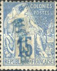 [French Colonies Postage Stamps Handstamped