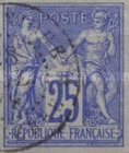 [Pax & Mercur - As French Postage Stamps No.57-68A but Imperforated. Colored Paper, type F7]