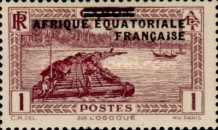 [Postage Stamps from Gabon Overprinted, type A]