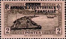 [Postage Stamps from Gabon Overprinted, type A1]