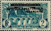 [Postage Stamps from Middle Congo Overprinted, type B1]