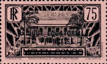 [Postage Stamps from Middle Congo Overprinted, type B10]