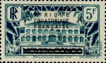 [Postage Stamps from Middle Congo Overprinted, type B13]