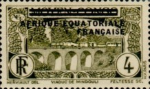 [Postage Stamps from Middle Congo Overprinted, type B2]