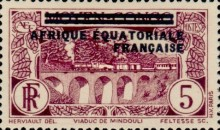 [Postage Stamps from Middle Congo Overprinted, type B3]